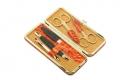 Маникюрный набор GD 5 предметов мандаринового цвета кожа