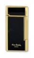 Зажигалка кремниевая Pierre Cardin черный лак золотистый