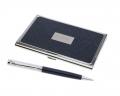 Ручка и визитница Pierre Cardin отделка хром