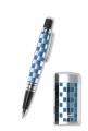 Набор зажигалка и ручка Caseti хром синий лак