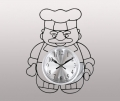 Часы настенные в виде повара