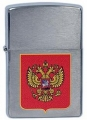 Зажигалка Zippo Герб России Brushed Chrome
