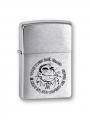 Зажигалка Zippo горилла Brushed Chrome