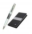 Набор записная книжка и шариковая ручка Pierre Cardin черный серый цвет