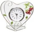 Часы в форме сердца JARDIN D'ETE Клубничная поляна