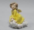 Статуэтка из фарфора Ангелочек в желтом платье