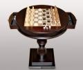 Стол для шахмат и шашек с фигурками круглый
