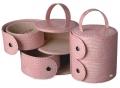 Шкатулка для украшений Jardin D'Ete розовая с боковыми отделениями
