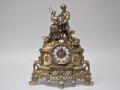 Часы каминные кварцевые из бронзы и мрамора