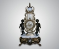 Часы каминные с ангелочками белый мрамор