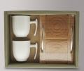 Набор подарочный чашки с подносом Nuova cer