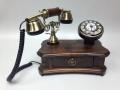 Ретро телефон настольный с выдвижным ящичком