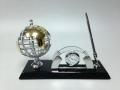 Набор офисный часы ручка и глобус