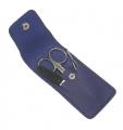 Маникюрный набор GD 3 предмета кожа синего цвета