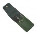 Маникюрный набор GD 3 предмета кожа темно зеленого цвета