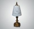 Лампа настольная из металла и фарфора