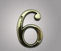 Цифра из латуни 6