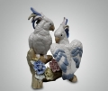 Статуэтка влюбленные попугаи