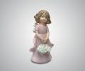 Статуэтка Ангелочек с корзиной белых цветов