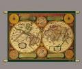 Карта мира музейная копия Zoffoli