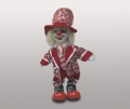 Клоун кукла в красных ботинках и шляпе