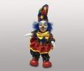 Клоун кукла в разноцветном колпаке с помпоном