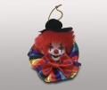 Клоун-подвеска в черной шляпе