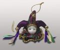 Клоун-подвеска в фиолетовом колпаке