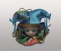 Клоун-подвеска в голубом колпаке