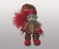 Клоун кукла в красных ботинках с красным помпоном
