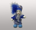 Клоун кукла в синих ботинках синий помпон