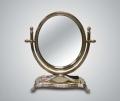Зеркало настольное круглое из латуни