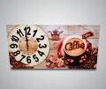 Часы прямоугольные Чашка кофе