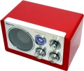Радиоприемник Roadstar с ретро дизайном красный