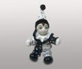 Клоун кукла черно-белый
