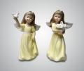 Статуэтка ангелочки с голубем