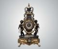 Часы каминные из темной бронзы