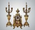 Набор для камина часы и канделябры из бронзы
