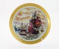 Тарелка декоративная Бриг на подставке
