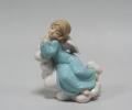 Статуэтка из фарфора Ангел в голубом платье