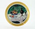 Декоративная тарелка натюрморт с яблоками