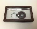 Набор подарочный ручка и брелок с компасом
