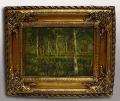 Репродукция картины лес
