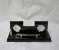 Набор офисный часы ручка и термометр